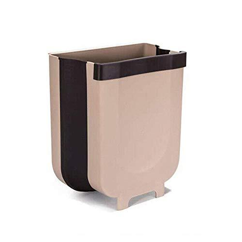 Coner Opvouwbare Afvalbak Keukenkast Deur Opknoping Prullenbak Auto Vuilnisbak Huis Kamer Vuilnis Hangend toilet Intrekbare mand, 1,5L