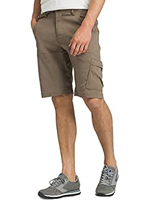 "prAna - Men's Stretch Zion Lightweight, Water-Repellent Shorts for Hiking and Everyday Wear, 12"" Inseam, Mud, 36"