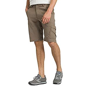prAna – Men's Stretch Zion Lightweight, Water-Repellent Shorts for Hiking and Everyday Wear, 10″ Inseam, Mud, 34