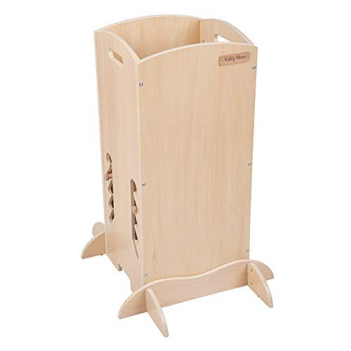 KiddyMoon Torre De Aprendizaje Para Niños ST-001, Madera Contrachapada/Natural (Producto para bebé)