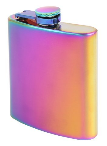 M&M MM Rainbow Spectrum-6oz Flask/Flachmann, Chrom, Silber, 10 x 5 x 2 cm