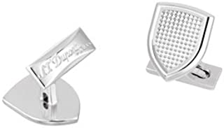Dupont ronds Boutons de manchette en or rose avec S.T Dupont d S.T