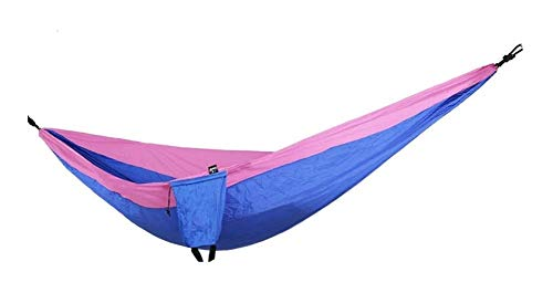 MXXS Camping Hammock,Single & double nylon silk spinning Hammocks Garden Leisure portable beach swing bed tree hanging suspended Camping hammock 107 (Color : B, Size : 260x130cm(102x51inch))