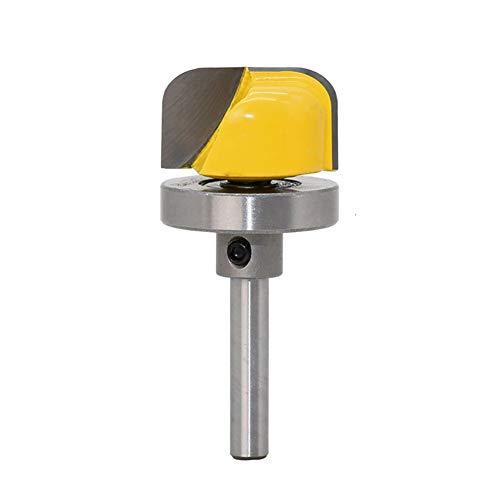 QPLKL Zimmerarbeiten 1PC 8mm Schaft zur Holzfräser 1/8' Durchmesser Bowl Tray Vorlage Fräser Trimming Fräsen Holzschneidewerkzeug