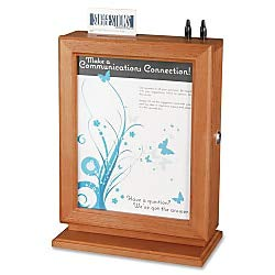top 10 wooden suggestion box Safco Products 4236CY Customized proposal box made of wood and cherry blossoms