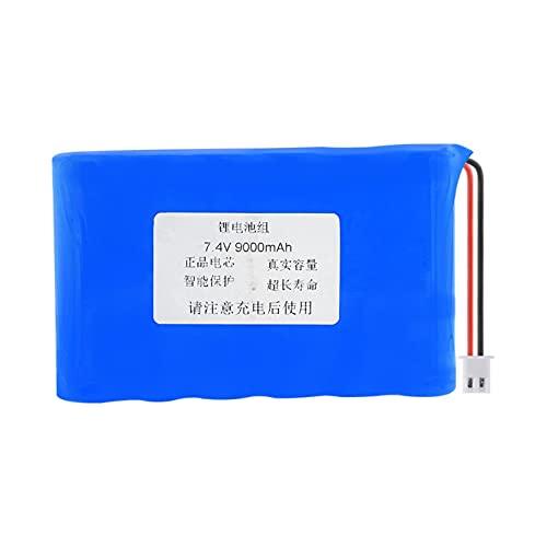 MeGgyc 1 Uds 7,4 V 9000 mAh batería Recargable 18650 (6 Uds 18650 baterías de Litio) con Enchufe XH de 2,54 mm para RC Modelo DIY Power Bank