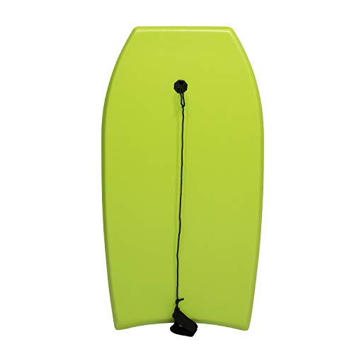 Kinsuite 37 Inch Lightweight Bodyboard with Premium Wrist Leash EPS Core, Super Body Board Slick Bottom for Sea Beach River Pool, Perfect Surfing for Kids Teens and Adults