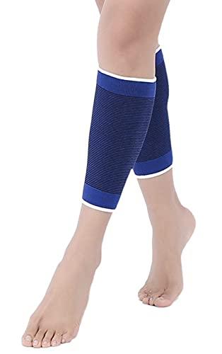 Fascia Elastica Per Ginocchia Gomito Caviglia Coscia Polpaccio e Stinco Supporto Tutore Gamba Ideale Per Sport E Dolori Muscolari-Unisex Colore Blu 2 pz