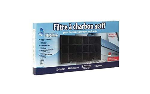 FILTRE CHARBON TYPE 150 435 X 217 M/M POUR HOTTE WHIRLPOOL - C00090799