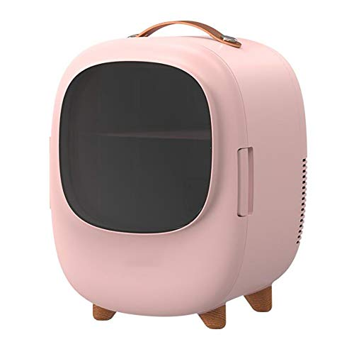 QERTY 8L Mini Portable Cosmetic Fridge/Refrigerator,Suitable for Any Cosmetic Storage,Used for Makeup and Care Skin,Bedroom,Double Layer Structure (AC/DC)