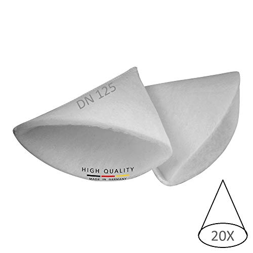 20x Kegelfilter für Abluft-Tellerventile von Maico, Pluggit, Zehnder, Helios, Wolf, Stiebel, cleanAir M4-1085 Größe DN 125 Filter-Stärke G4