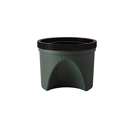XVXFZEG Trash Can, Nordic Stil Kunststoff bruchsicheren Abfalleimer Mülleimer, Covered for Badezimmer, Küchen, Home Offices, Dorms, Kinder Zimmer Leicht Altpapier Trash Can 10L (Color : Grün)