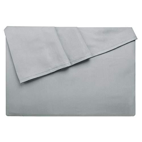 Lirex Lenzuolo Piatto, 230 cm x 258 cm Size Extra Morbido Lenzuolo Piatto in Microfibra Spazzolata, Lavabile in Lavatrice Senza Pieghe, Traspirante, Grigio