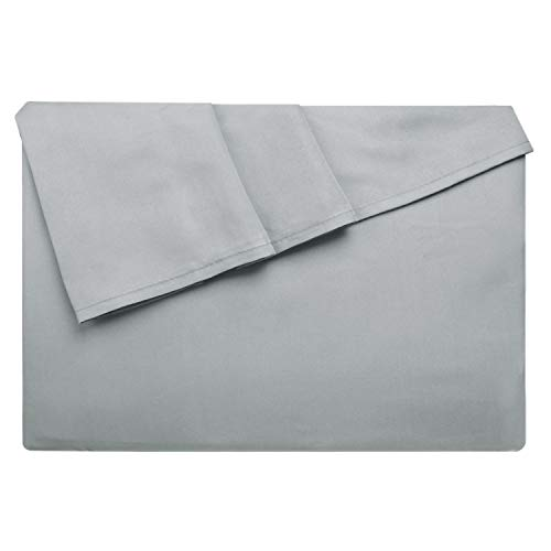 Lirex Bettlaken, Twin-Größe Hochwertige, Extra Weiche, Gebürstete Mikrofaser Flaches Blatt, Maschinenwäsche, Faltenfrei - Grau