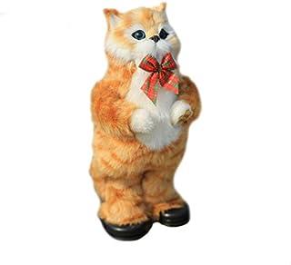 SIZOO - Stuffed & Plush Animals - 1pc 30cm Simulation Cat Electric Yellow Cat Singing and Dancing Cat Doll Plush Animal Do...