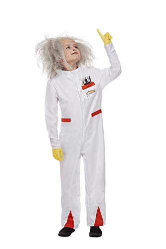 Smiffys Officially Licensed Back to the Future Doc Costume Disfraz oficial, color blanco, M-7-9 Years (52311M)