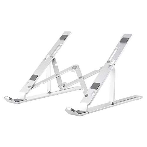 YHNJI Soporte para portátil ajustable de aluminio para portátil con 7 niveles de ajuste de altura totalmente compatible con portátiles de 10 a 15,6 pulgadas