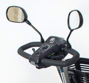Deluxe Scooter Rear View Mirror Pair for Pride Mobility (Only Works with Scooters with Screw Holes On The Tiller)