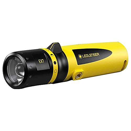 Ledlenser EX7 LED Taschenlampe, explosionsgeschützt, EX-Zone 0/20 fokussierbar, mit Batterien betrieben, 200 Lumen, 120 Meter Leuchtweite, 45 Stunden Leuchtdauer 1 Stk.
