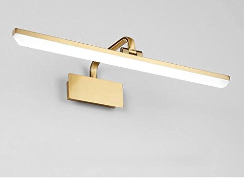 Led Spiegel Lampe Badezimmer Spiegel Schrank Licht Badezimmer Kommode Make-up Lampe Hardware Wandleuchte (Farbe   Weies Licht-50cm)