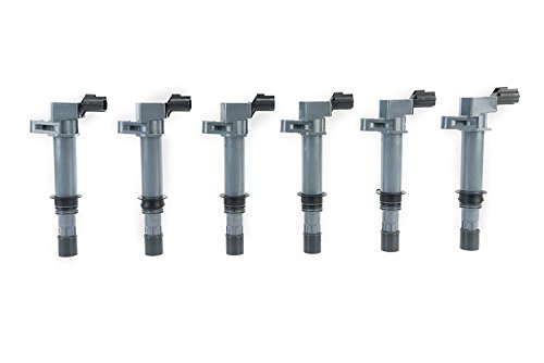 Ignition Coil Pack Set of 6 - Replaces 56028138AF, C1231 - Fits 2002-2008 Dodge Ram 3.7 & 4.7L - 2000-008 Dodge Dakota and Durango - 2002-2008 Jeep Grand Cherokee and Liberty - Dodge Nitro and more