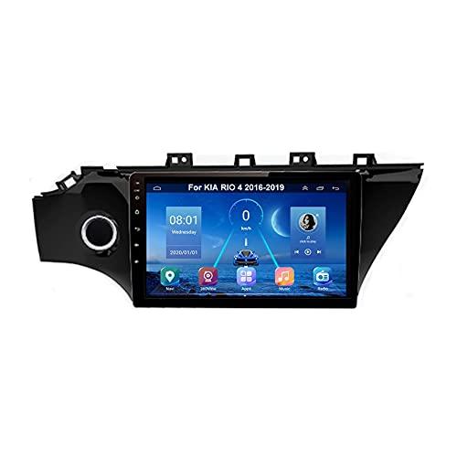 Android 10 Radio De Coche 9 Pulgadas Pantalla Tactil Para Coche Para KIA RIO 4 2016-2019 Android Auto Coche Conecta Y Reproduce Coche Audio FM/Am/RDS Video SWC Cámara Trasera