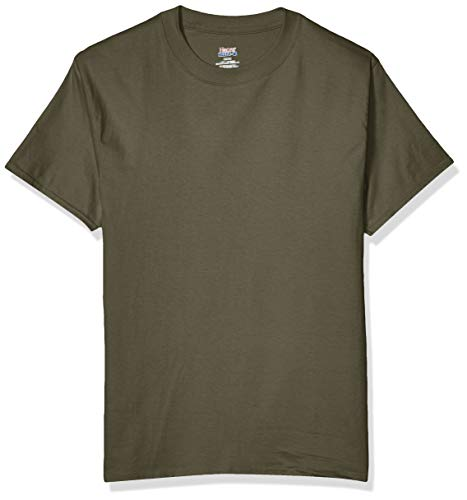 Hanes Men's Short Sleeve Beefy-T, Fatigue Green, X Large