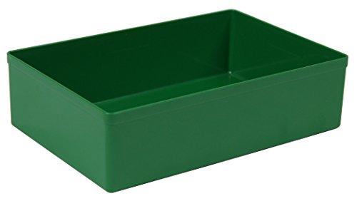 15 St. Kunststoff-Einsatzkasten, grün, 162x108x45 mm (LxBxH), aus PS