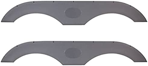 Pair of Alpha Systems Tandem Trailer Fender Skirt - Gray