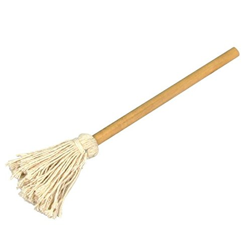 Rocky Mountain Goods Basting Barbecue Mop - Large - Long Handle to Keep Your Hand Away from The Heat - Large mop for Quicker basting - Solid Wood