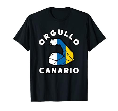 Orgullo Canario - Diseño con Bandera de Canarias Camiseta