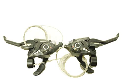 PAIR SHIMANO ALTUS,ALIVIO,ACERA ST-EF51-8 EZI FIRE STI SHIFTERS 24 SPEED WITH 2 FINGER BRAKE LEVERS VERY LOW SALE PRICE