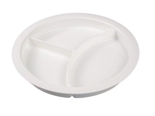 Speise Teller mit hohen Rand und Einteilung in 3 Fächer | Anti Rutschring auf der Unterseite