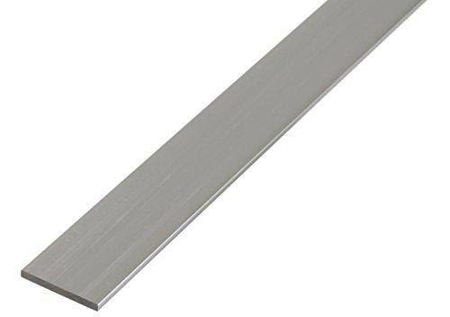 GAH-Alberts 469979 Flachstange - Aluminium, natur, 2000 x 25 x 2 mm