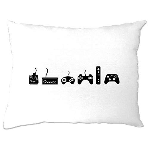 prz0vprz0v - Federa per cuscino da gioco Evolution Of A Video Game Controller idea regalo per Nerds 30,5 x 40,6 cm