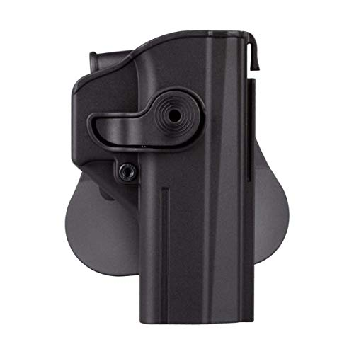 IMI Defense CZ Shadow 2 Gun Holster, Level 2 Safety Retention, trriger Guard Lock w 360 ROTO Paddle Polymer Holster fits P-09
