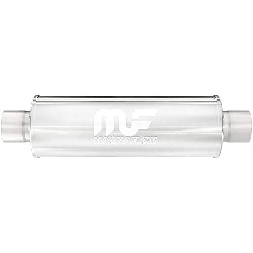 MagnaFlow 4' Round Center/Center Straight Through Performance Muffler 10416