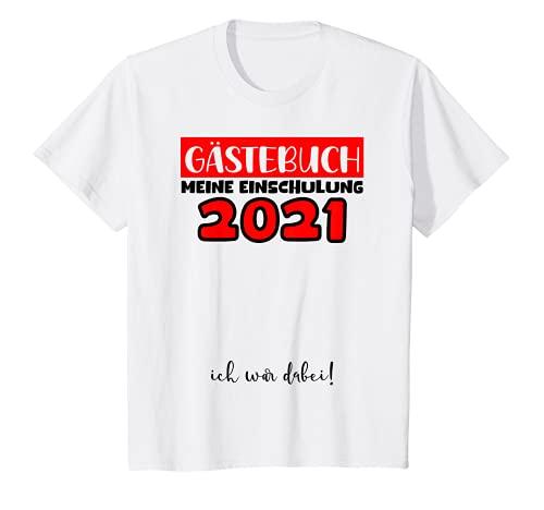 Kinder Einschulung 2021 Gästebuch Unterschreiben Jungen Mädchen Fun T-Shirt