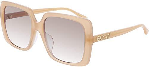 Gucci Gafas de sol GG0728SA 004 Gafas de sol mujer color Rosa nude tamaño de lente 57 mm
