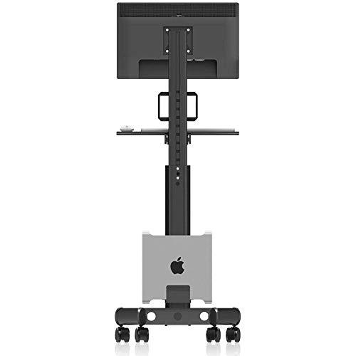 WYJW Soportes de Suelo universales de Acero Inoxidable para televisores de 15 a 32 Pulgadas, Unidad de Suelo Negra para televisores con Ruedas Ruedas de hasta 10 kg de Altura de inclina