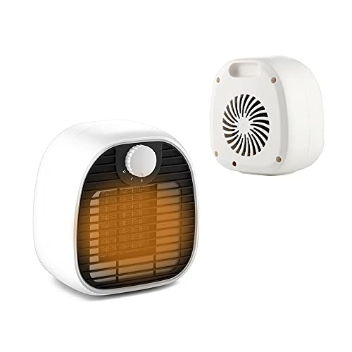 LXZ Calentador de Pies, Portátil Calentador con Modos de Calentamiento de 1000W/650W, Calentamiento de 3 Segundos Eficiente el Ahorro de Energía Ventilador Calefactor Eléctrico