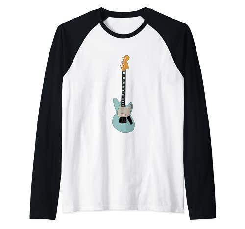 Guitarra eléctrica Camiseta Manga Raglan