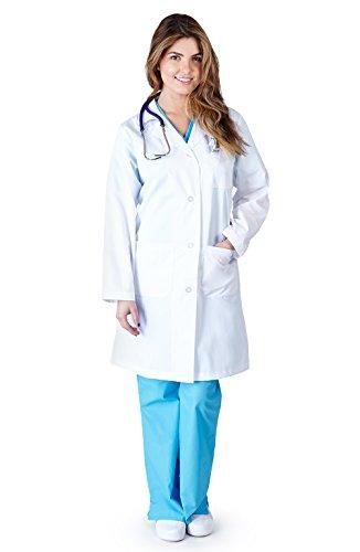 Natural Uniforms - Womens 41 Inch Lab Coat, White 37151-Medium