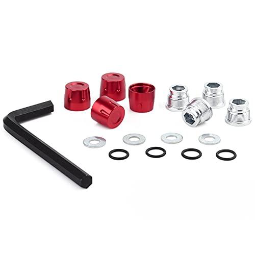 Farleshop Metall-Aluminium-M4-Mut-Rand-Rad-mittlere Kappe 4pcs für 1/10 RC C-R-A-W-L-E-R-Auto Axial SCX10 90046...