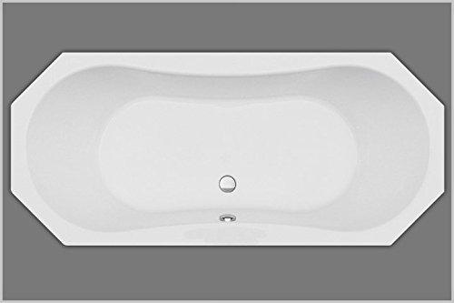 Unbekannt Achteckbadewanne Acryl weiß 180x80x43cm