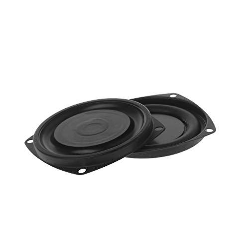 "smallJUN 2pieces Woofer Radiator Bass Passive Lautsprecher 3\""Low Frequency Loudspeaker Membran Vibrationsplatte DIY Bass Membran Schwarz"