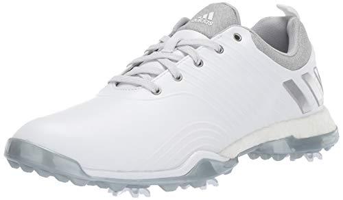 adidas Women's Adipower 4ORGED Golf Shoe, FTWR White/Silver Metallic/Clear Onix, 10 M US