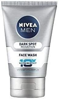 Nivea For Men Advanced Whitening Dark Spot Reduction Face Wash, 100ml (Pack of 2)