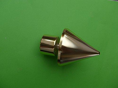 Endkopf vermessingt Speer für 28mm Gardinenstangen