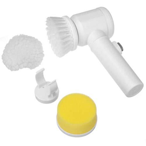 お掃除ブラシ 電動ブラシ 電池式 電動お掃除ブラシ コードレス 強力 汚れ取り除く 楽に掃除 浴槽 台所 風呂 キッチン 鏡 ハンディクリーナー 年末掃除に適用 (白)